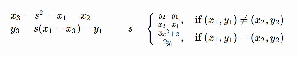 fórmula curva elíptica blockchain